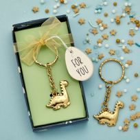 Adorable Gold Dinosaur Key Ring
